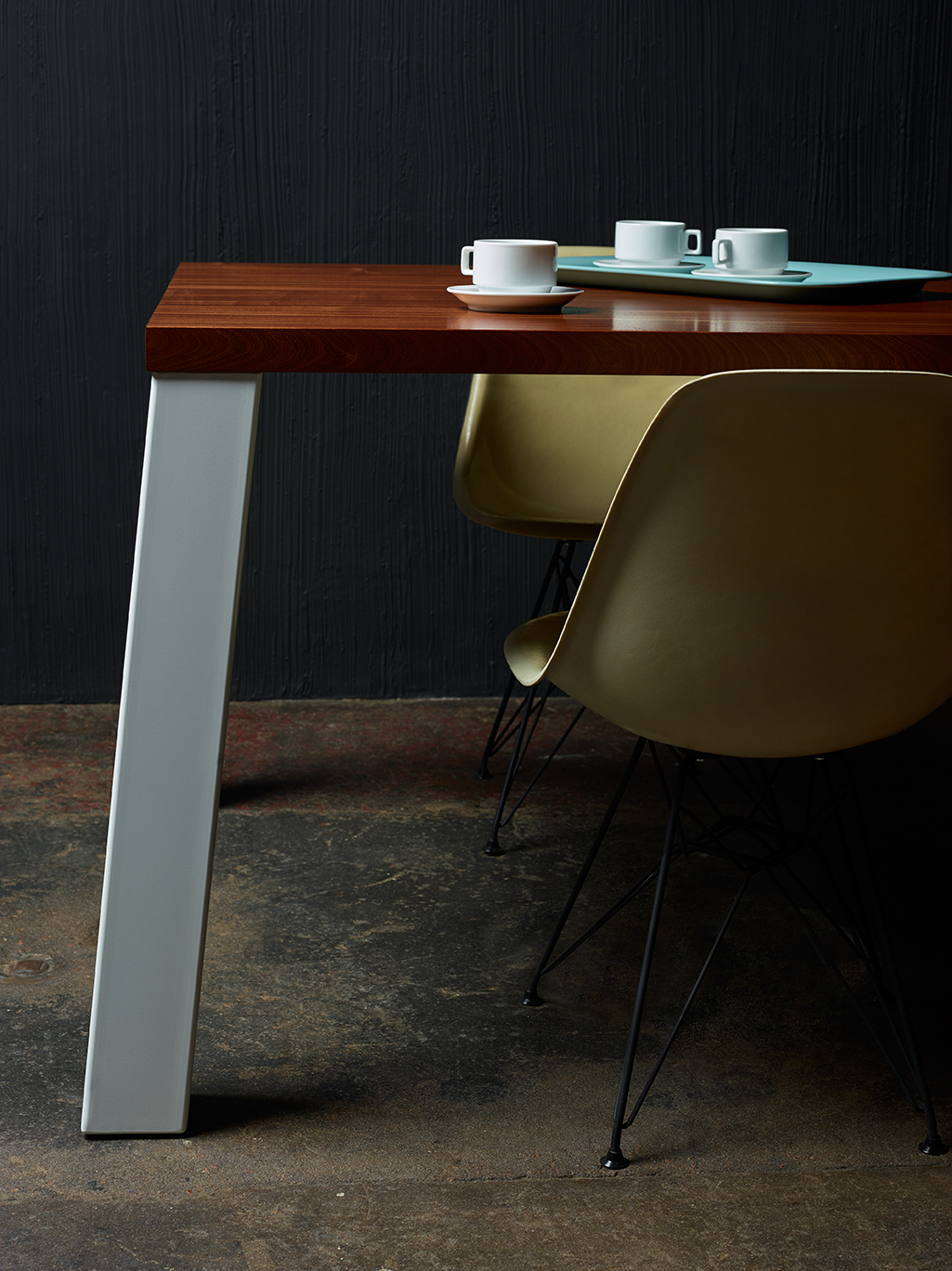 New semi-custom dining table from Where Wood Meets Steel