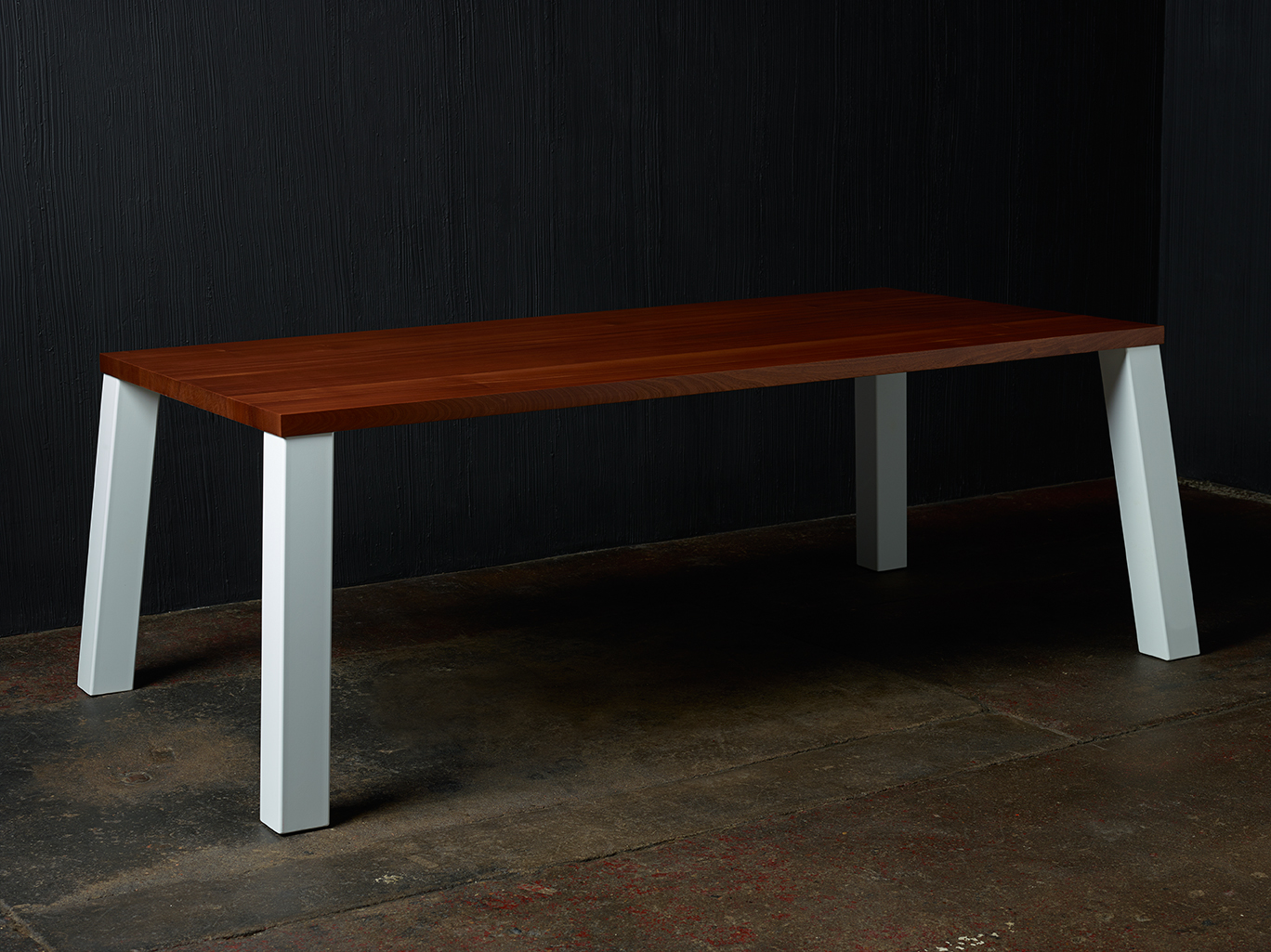 Semi-Custom Dining Table Where Wood Meets Steel
